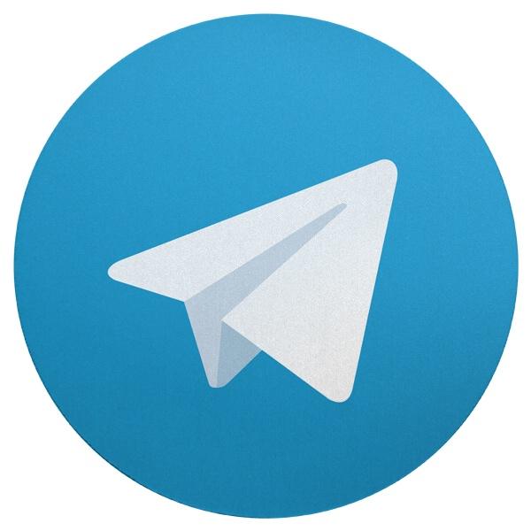 Круглый коврик для мыши Мессенджер Telegram