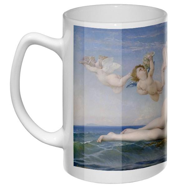 Большая кружка Рождение Венеры (Кабанель), цвет белый