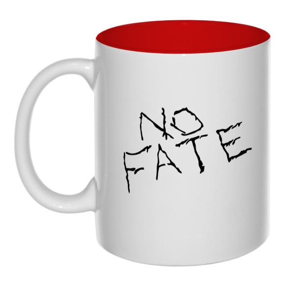 Кружка No fate (Нет судьбы) цветная внутри