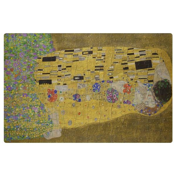Картина Поцелуй, магнитный пазл А4 , цвет белый
