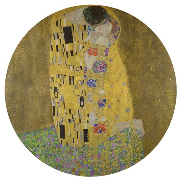 Картина Поцелуй, круглый коврик для мыши