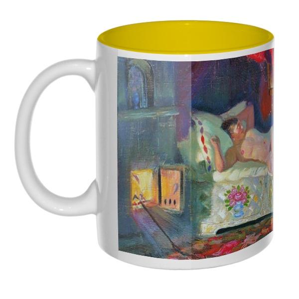 Картина Купчиха и домовой, кружка цветная внутри