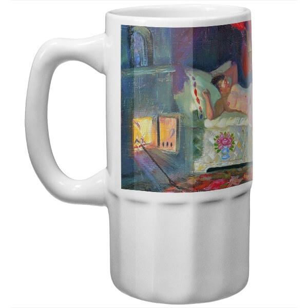 Пивная кружка Картина Купчиха и домовой