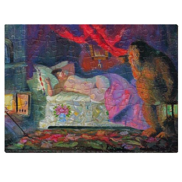 Магнитный пазл А5 Картина Купчиха и домовой