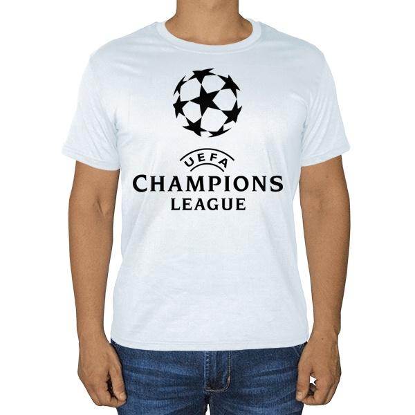 Белая футболка Лига чемпионов (Champions League), цвет белый