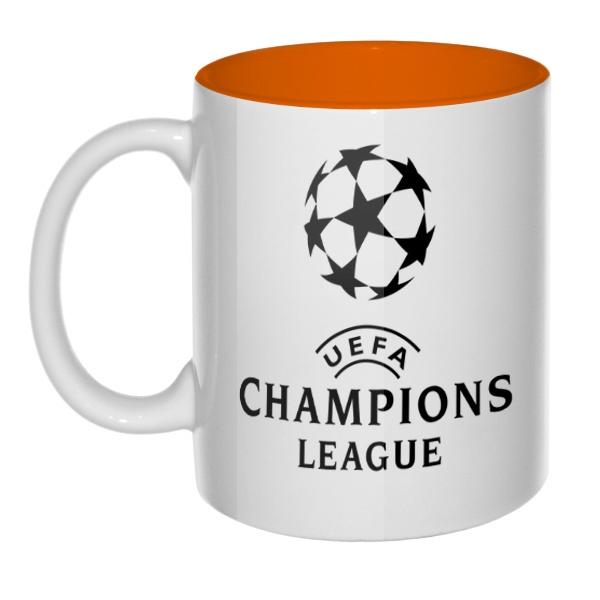 Кружка цветная внутри Лига чемпионов (Champions League)