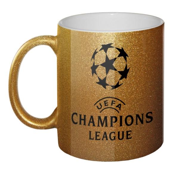 Кружка золотистая Лига чемпионов (Champions League)