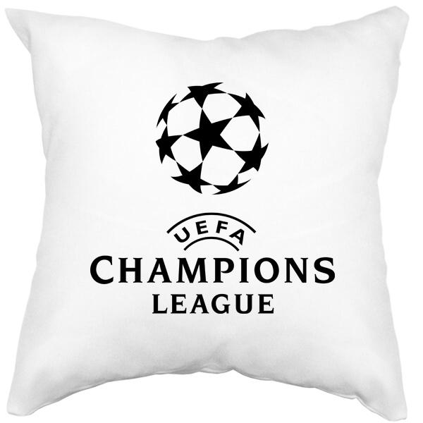 Подушка белая Лига чемпионов (Champions League)