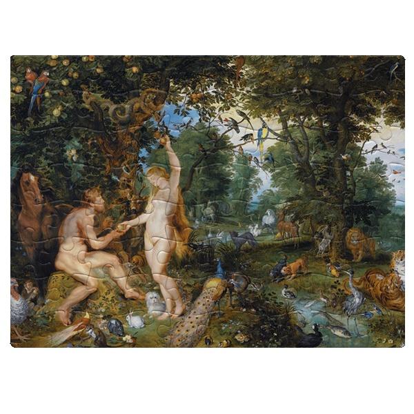 Эдемский сад с грехопадением человека, магнитный пазл A5