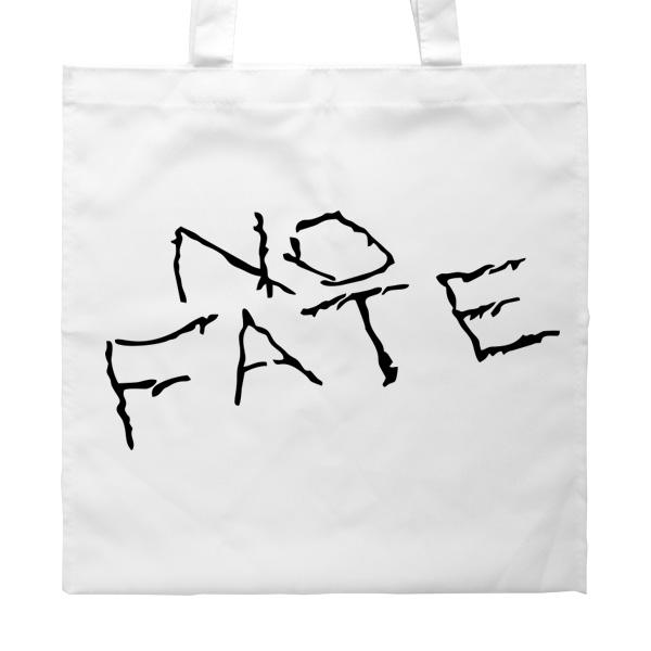 Белая сумка No fate (Нет судьбы), цвет белый