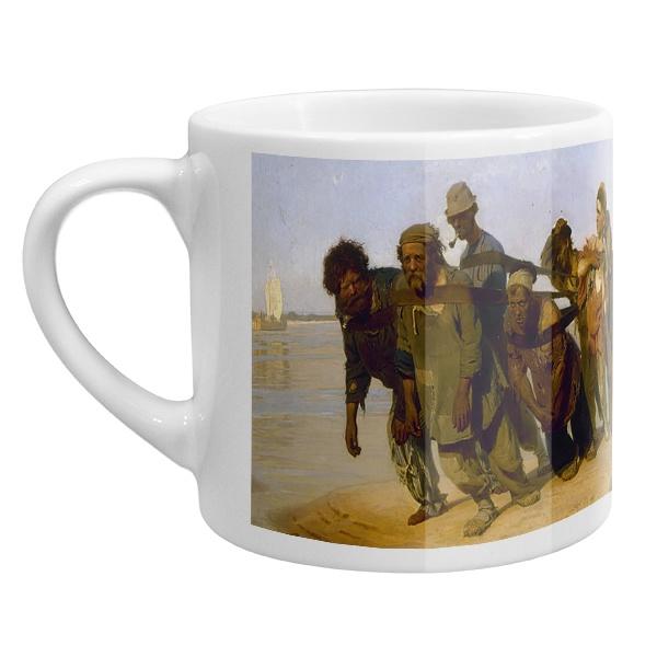 Кофейная чашка Бурлаки на Волге