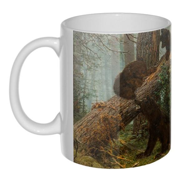 Утро в сосновом лесу, 3D-кружка