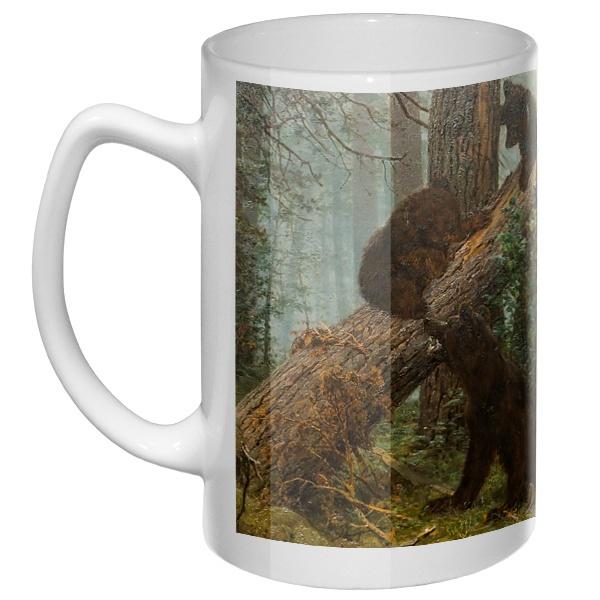 Большая кружка Утро в сосновом лесу