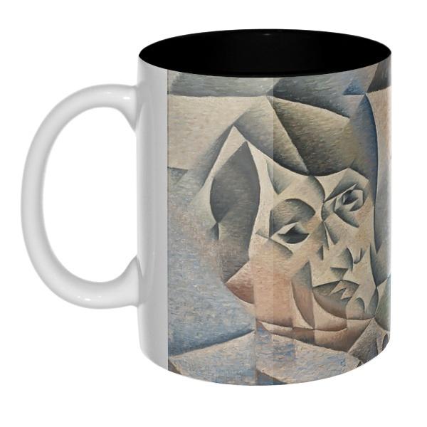 Портрет Пабло Пикассо, цветная внутри 3D-кружка