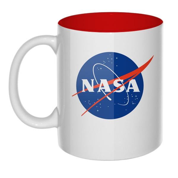 Кружка цветная внутри NASA