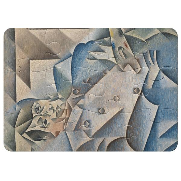 Портрет Пабло Пикассо, магнитный пазл A5 с крупными элементами