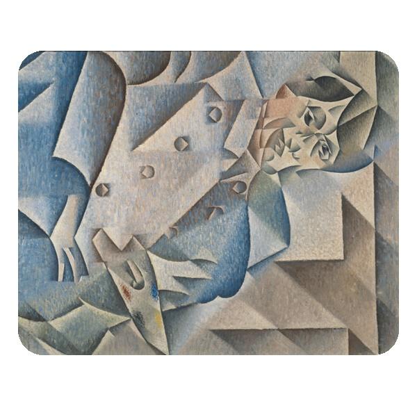 Портрет Пабло Пикассо, коврик для мыши прямоугольный