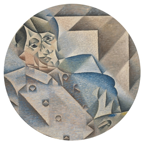 Круглый коврик для мыши Портрет Пабло Пикассо