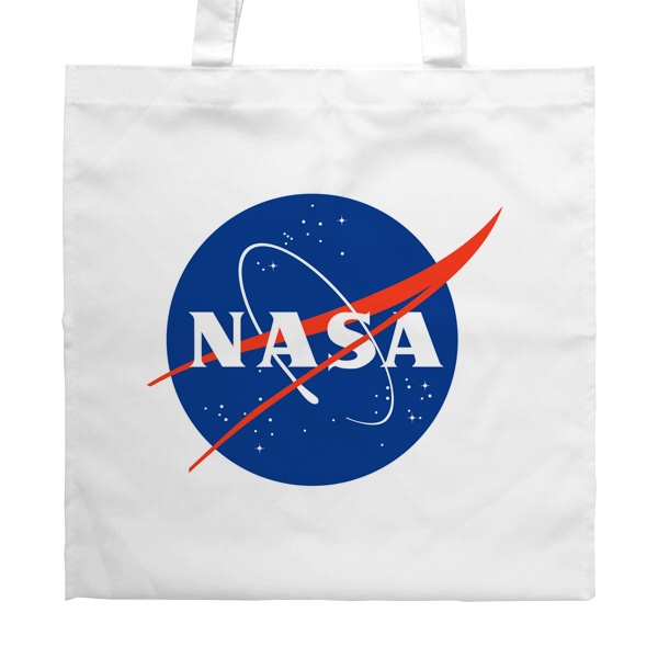 Белая сумка NASA, цвет белый