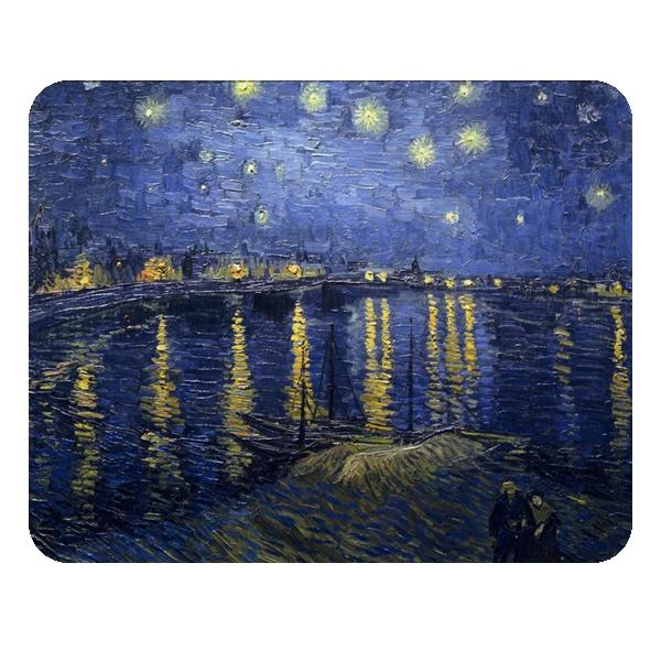 Звёздная ночь над Роной, коврик для мыши прямоугольный