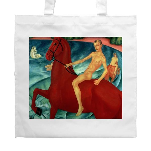 Белая сумка Купание красного коня
