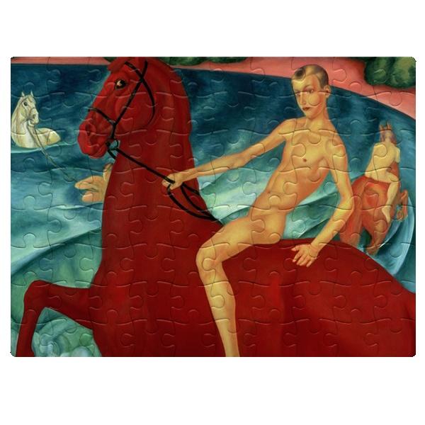 Купание красного коня, магнитный пазл A5