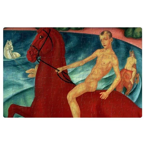 Магнитный пазл Купание красного коня, формат A4