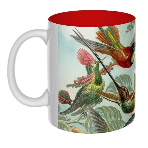 Колибри, цветная внутри 3D-кружка