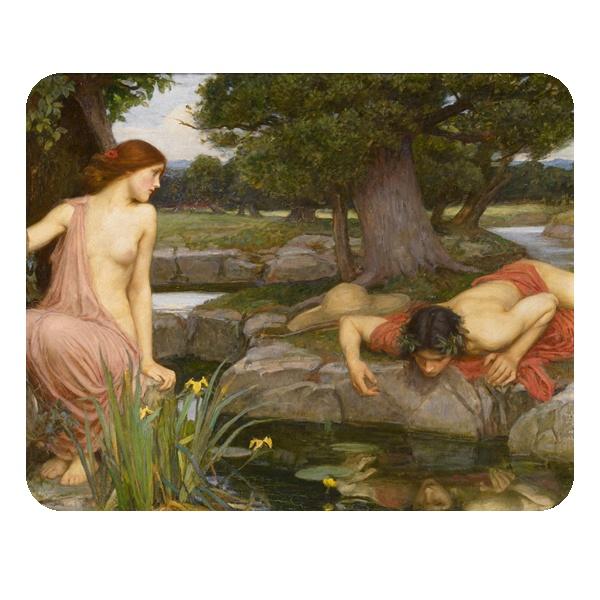 Эхо и Нарцисс, коврик для мыши прямоугольный