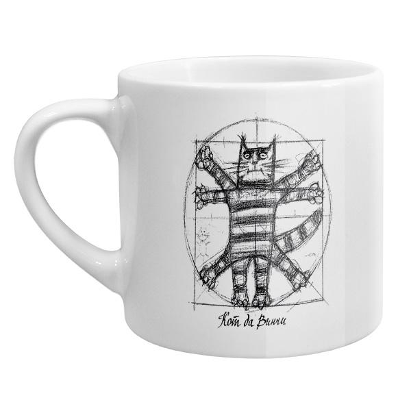 Кофейная чашка Кот да Винчи