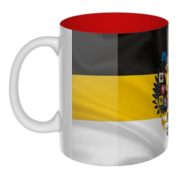 Имперский флаг с гербом, цветная внутри 3D-кружка