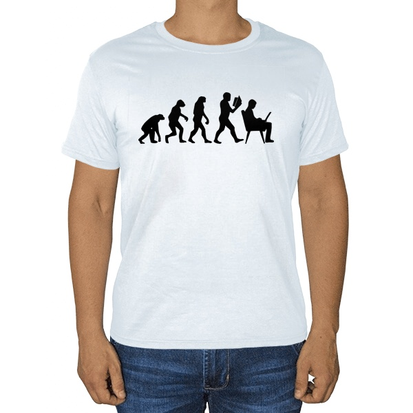 Эволюция, белая футболка