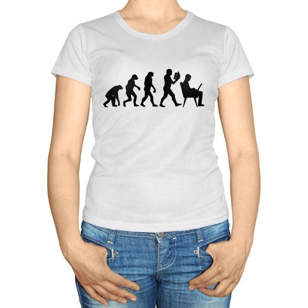Женская футболка Эволюция