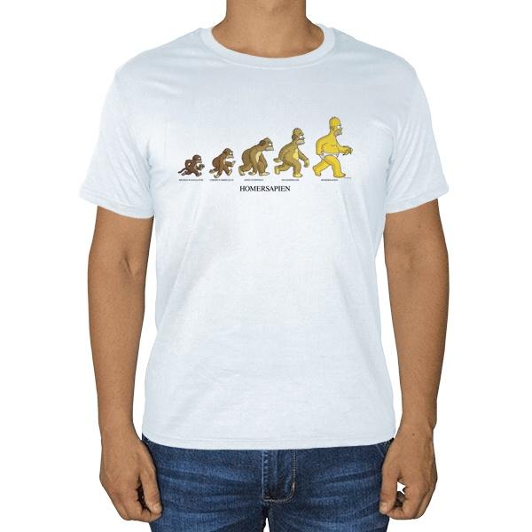 Эволюция Гомера Симпсона, белая футболка
