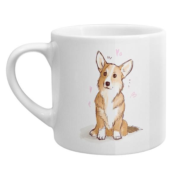 Кофейная чашка Рисунок Корги