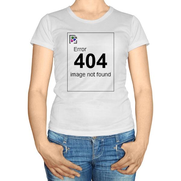 Женская футболка Error 404