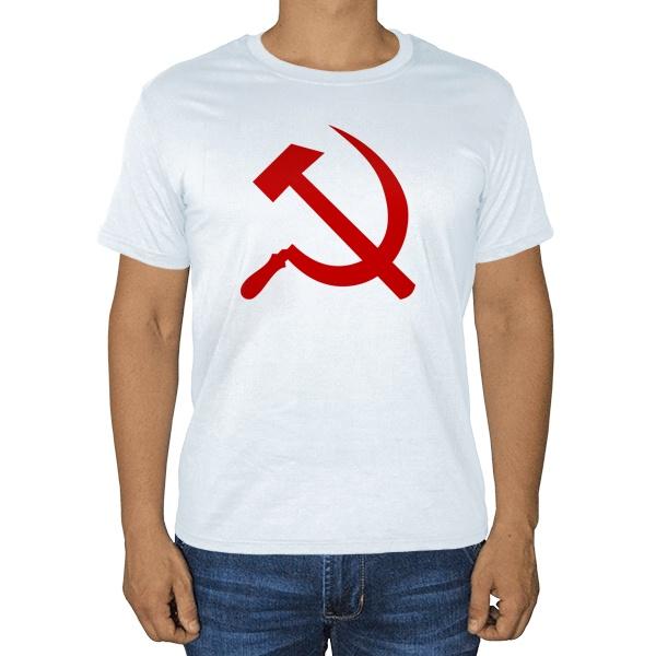 Серп и молот, белая футболка