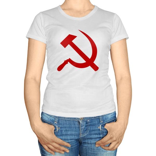 Женская футболка Серп и молот