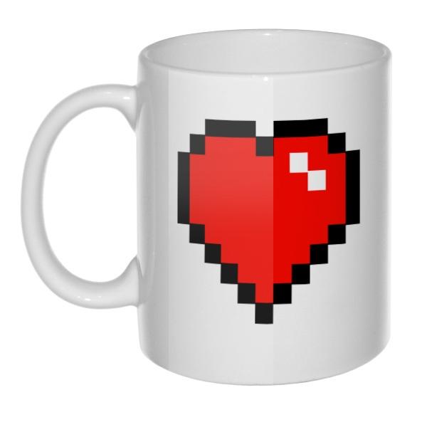 Кружка Пиксельное сердце