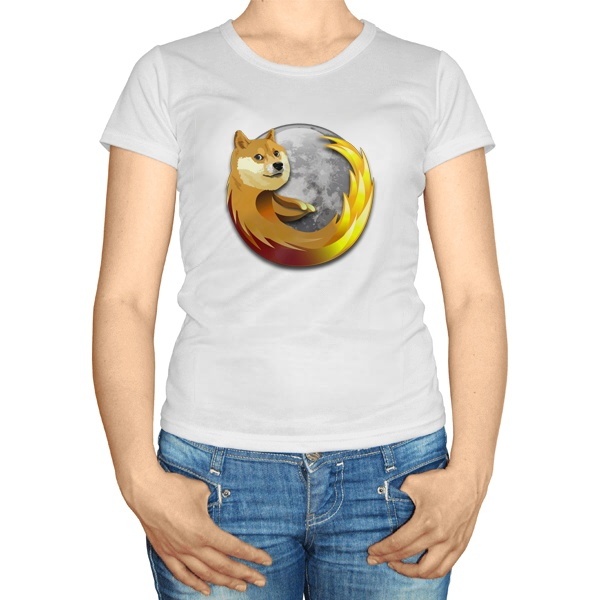 Женская футболка Собака Firefox
