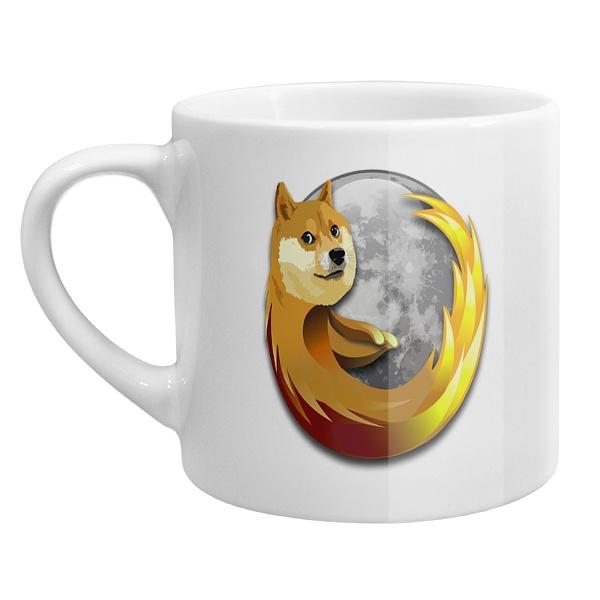 Кофейная чашка Собака Firefox