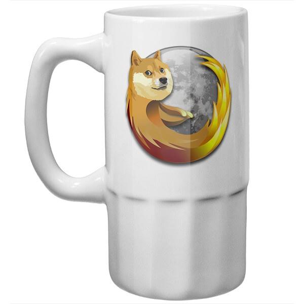 Пивная кружка Собака Firefox