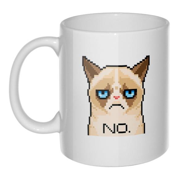 Кружка Сердитый кот (пиксельный)