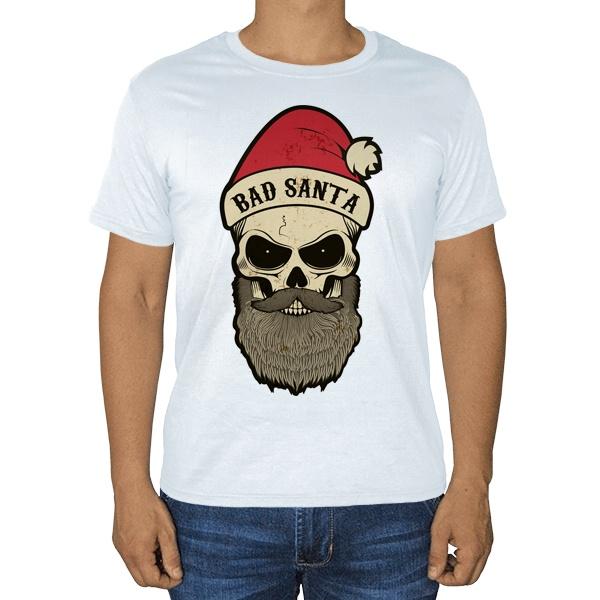Белая футболка Bad Santa