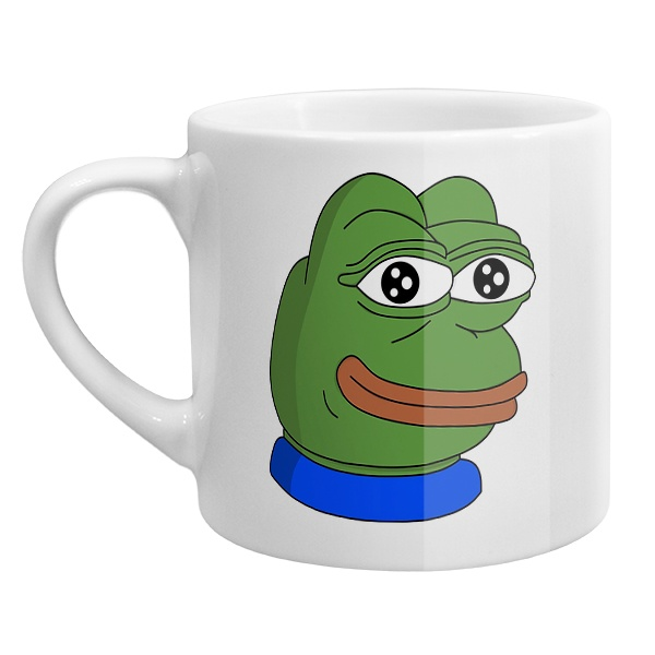 Кофейная чашка Пепе улыбается