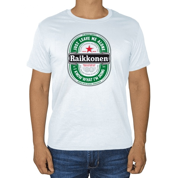 Raikkonen, белая футболка
