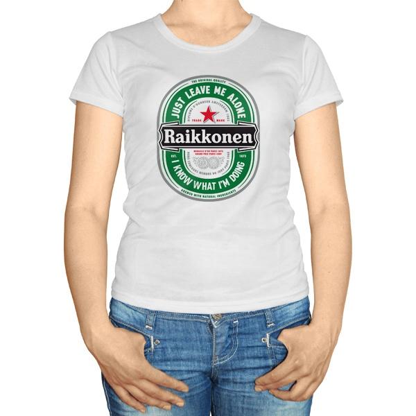 Женская футболка Raikkonen