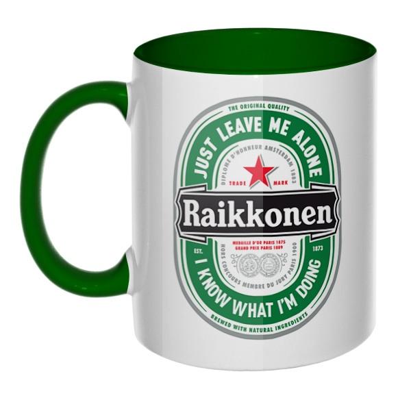 Raikkonen, кружка цветная внутри и ручка