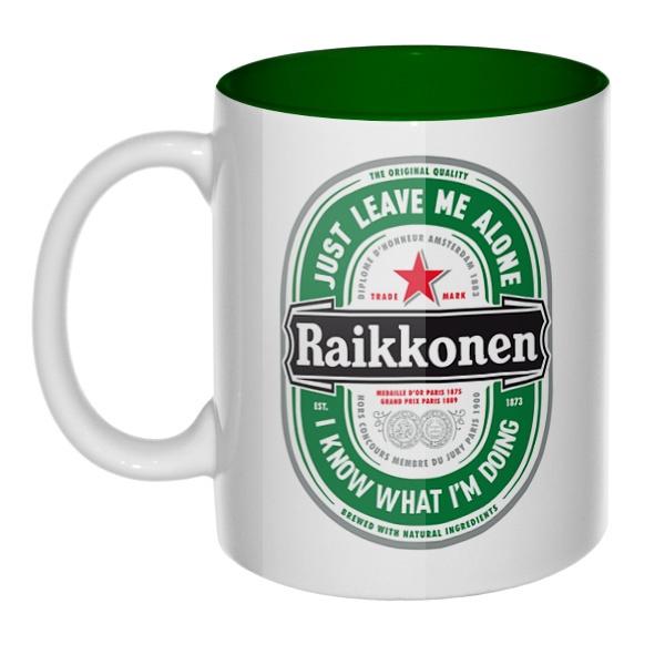 Raikkonen, кружка цветная внутри