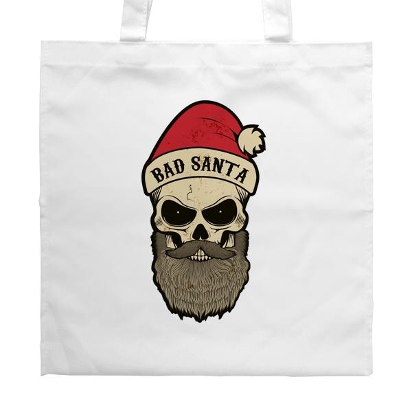 Белая сумка Bad Santa